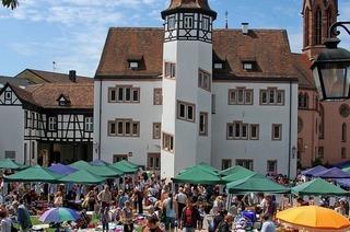 Auf dem Schlossplatz findet der Spielzeug- und Kindersachenflohmarkt statt