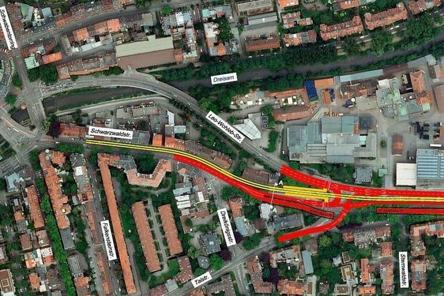 Warum die Trasse des Freiburger Stadttunnels nicht den kürzesten Weg nimmt
