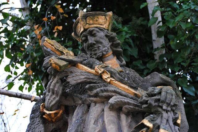 Der heilige Nepomuk ist oft an Straßen und Brücken zu entdecken