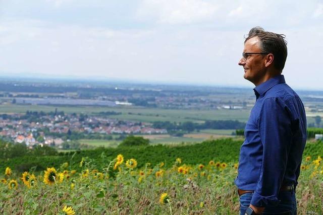 Rundgang mit den Kandidaten: Markus Ibert möchte mit Weitblick wirtschaften