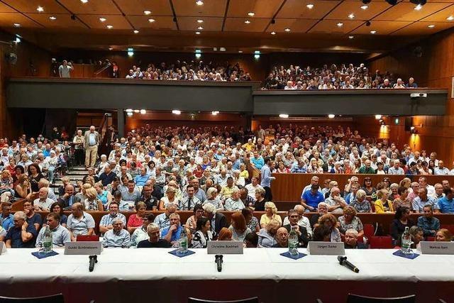 Offizielle Kandidatenvorstellung im Parktheater vor 850 Interessierten