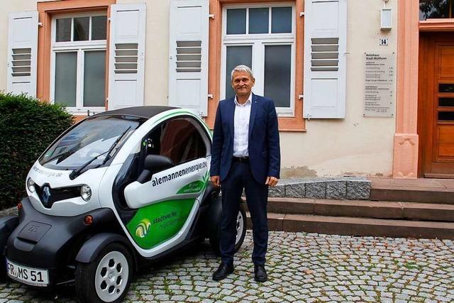 Ortsrundgang durch Müllheim mit Bürgermeisterkandidat Martin Löffler