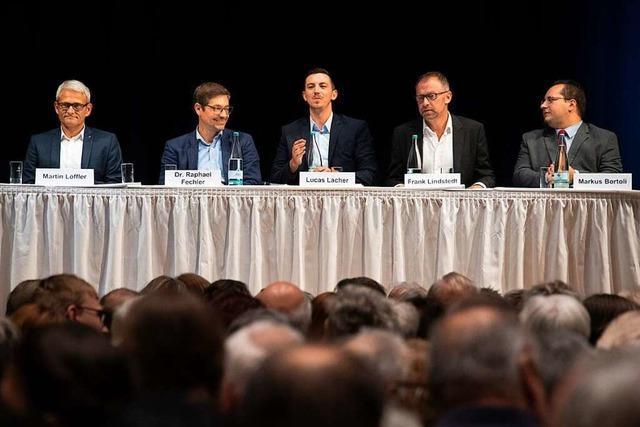 5 Bürgermeisterkandidaten, 15 Minuten Redezeit, 1000 Besucher