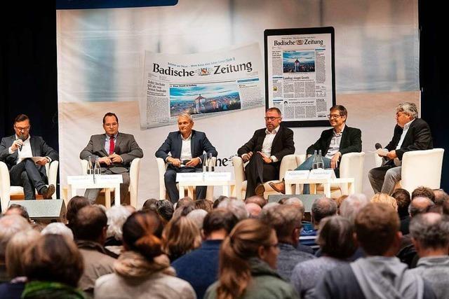 Beim BZ-Kandidatentalk in Müllheim ging's um Themen von Bier bis Bahnhof