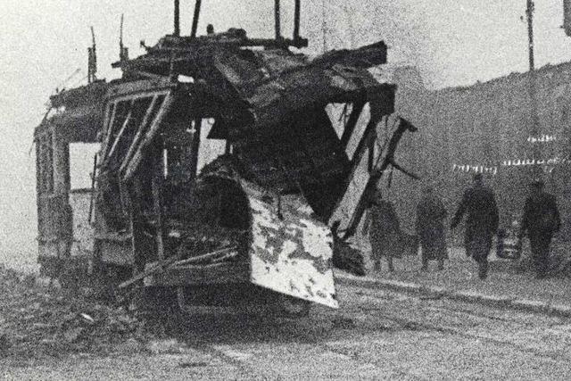 Freiburgs Straßenbahnnetz wurde durch die britischen Bomben vor 75 Jahren zerstört