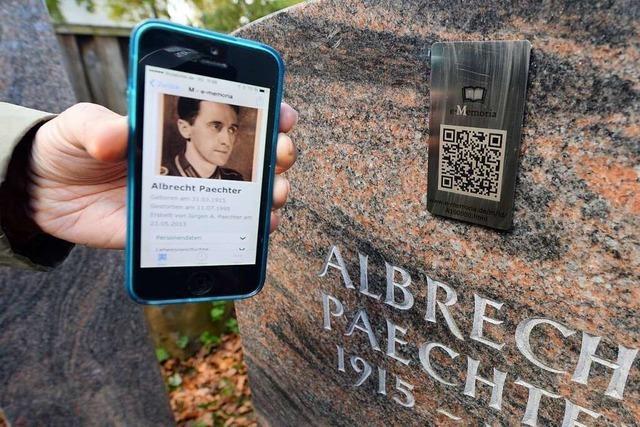 QR-Codes am Grabstein und Trauern im Netz