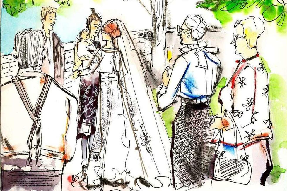 Illustrationen ergänzen Hochzeitsfotos - Badische Zeitung TICKET