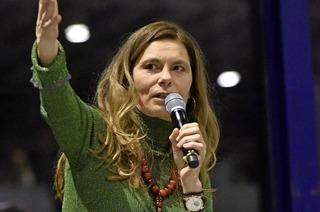 Sarah Wiener spricht im Audimax über die Ernährungswende