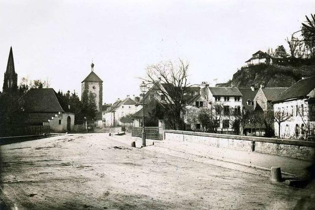 Vor 150 Jahren herrschte Biedermeieridylle vor dem Freiburger Schwabentor
