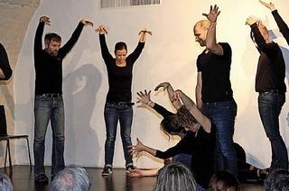 Imrovisation auf der Bühne: Das Ensemble Freiflug in der Talvogtei