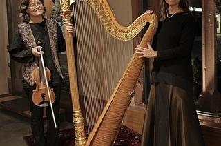 Harfe und Violine in der Martinskirche in Schallstadt-Mengen
