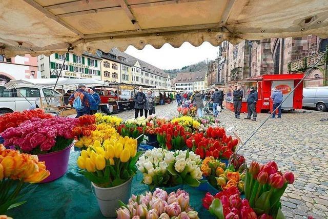 Coronavirus sorgt für Flaute auf dem Freiburger Münstermarkt