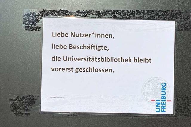 UB Freiburg ist wegen Corona-Fall bis auf Weiteres geschlossen