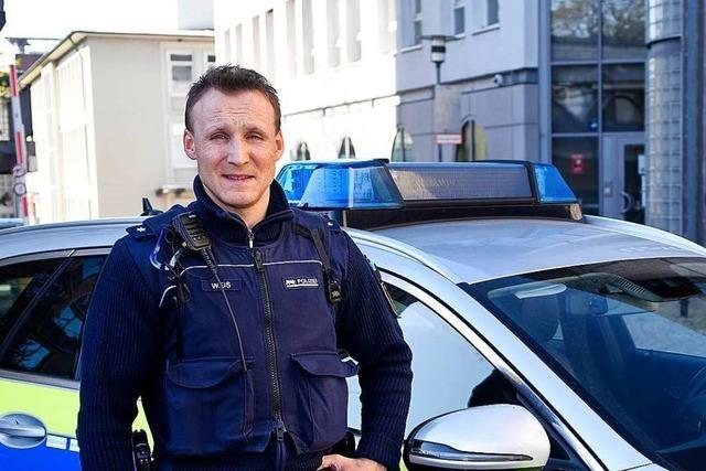 Für Streifenpolizist Matthias Weis ist Homeoffice keine Option