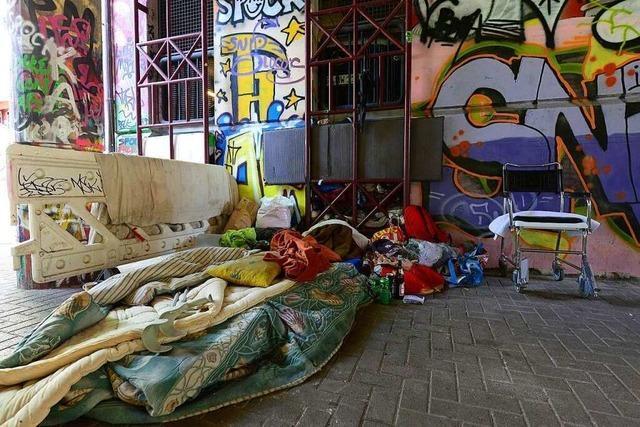 Wohnungslose Menschen in Freiburg haben wegen Corona kaum Rückzugsräume