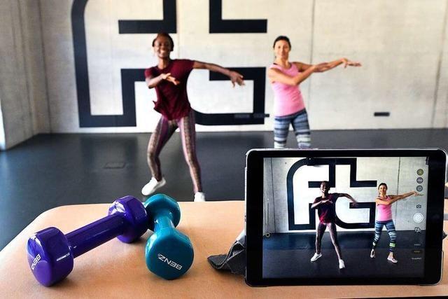 Ein Freiburger Turnverein trainiert per Video