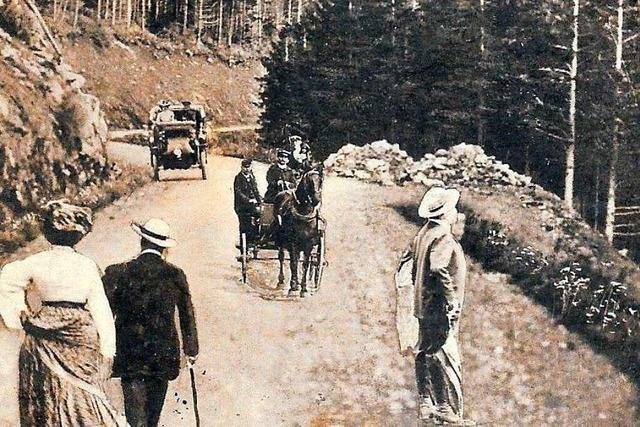 Mit einer Straße und einem Hotel begann einst der Schauinsland-Tourismus