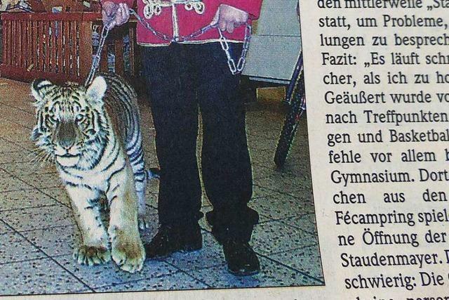 Im April 2000 beschäftigten ein Todesurteil und ein Tiger-Baby die Menschen