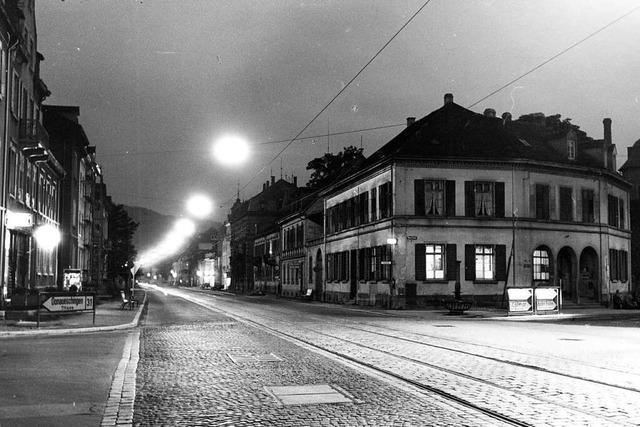 Bis 1957 stand an der Freiburger Günterstalstraße das alte Zollhaus