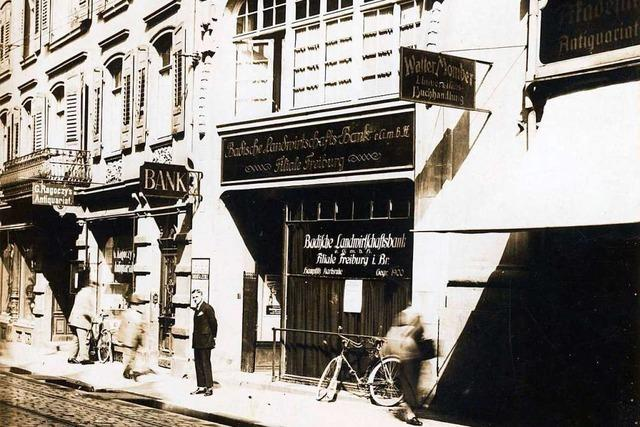 Die Salzstraße 11 in Freiburg war bereits Reformhaus, Bank und Café