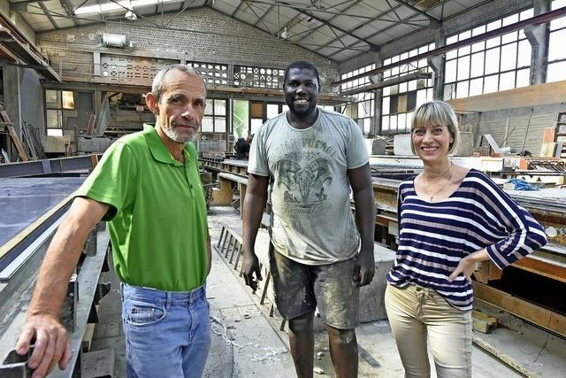 Gefragter Betonbauer aus Gambia