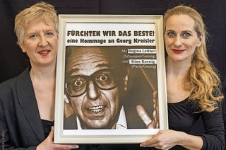 Regina Leitner und Aline Koenig mit Hommage an Georg Kreisler in Rheinfelden