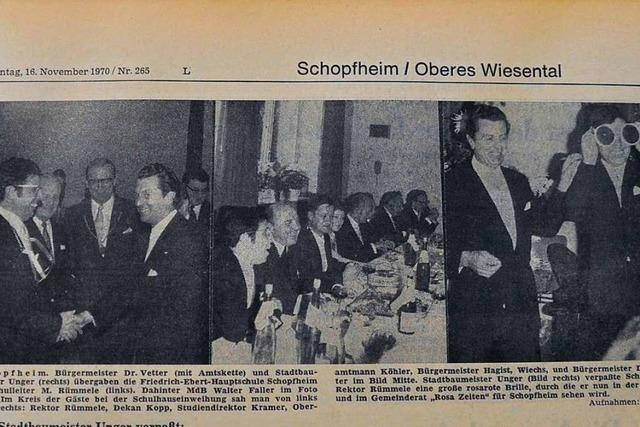 Vor 50 Jahren wurde die frisch eröffnete Friedrich-Ebert-Schule Schopfheim übergeben