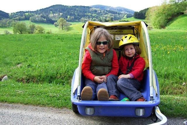 Auf dem Rad mit der Familie in Nullkommanichts ins Grüne