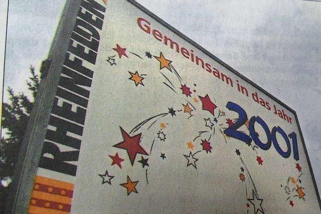 Der Abschluss des Jahres 2000 wurde in Rheinfelden gebührend gefeiert