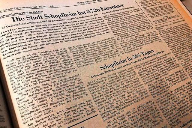 Wie die BZ vor 50 Jahren auf ein Schopfheimer Jahr zurückblickte