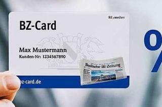 Attraktive Dauerrabatte mit der BZ-Card