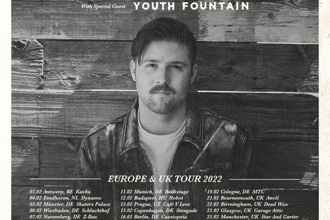 CORY WELLS - EU/UK Tour 2022 · With Special Guest: YOUTH FOUNTAIN - Wiesbaden - 06.02.2022 19:00